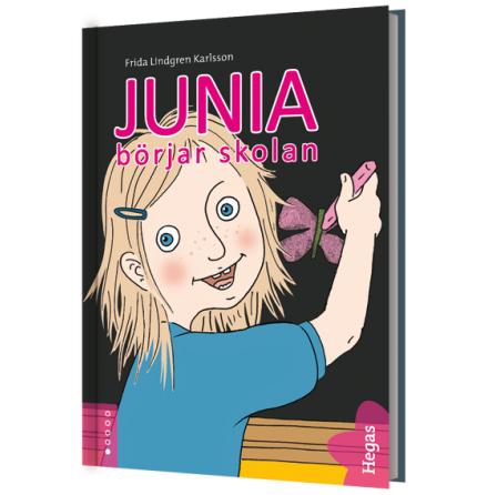 Junia börjar skolan Bok+cd