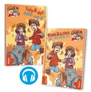 Tvillingpaket: Kim & Lina på kattjakt / svenska+arabiska (Bok+CD)