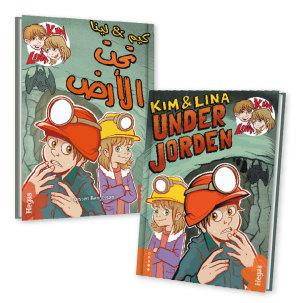 Tvillingpaket: Kim & Lina under jorden / svenska+arabiska