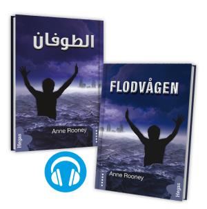 Tvillingpaket: Flodvågen / svenska+arabiska (Bok+CD)