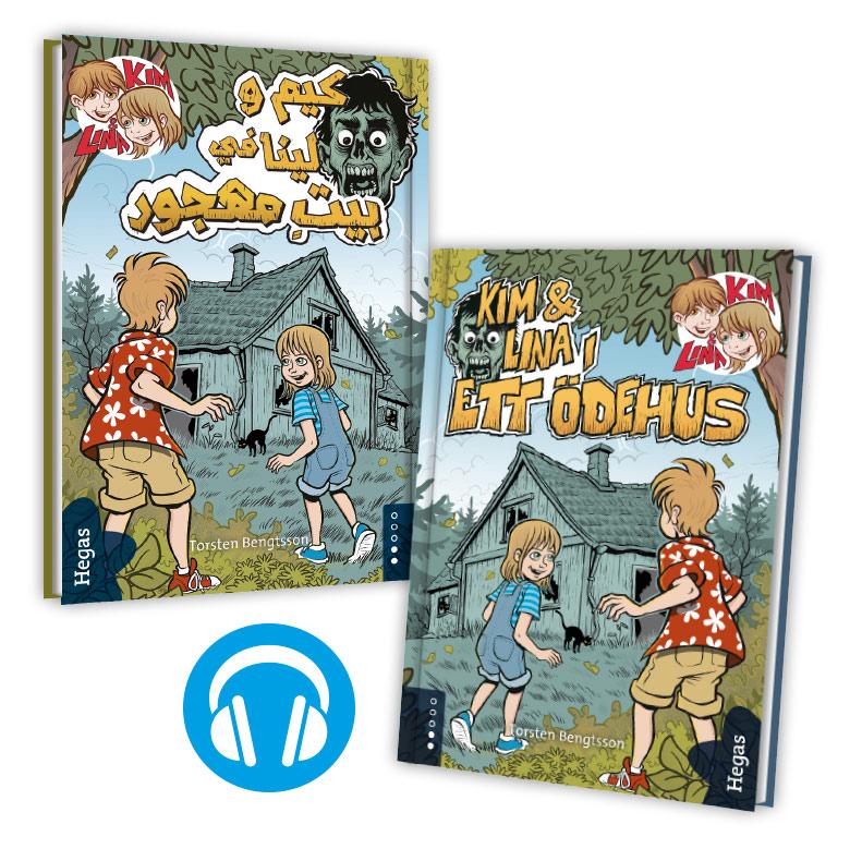 Kim & Lina i ett ödehus (Tvillingpaket svenska+arabiska) (Bok+CD) av Torsten Bengtsson